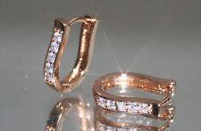 2 x 5 Brilliant Created Diamond 1.2 x 1.6cm U Shape Hoops