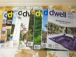 9 Dwell Magazine Back Issues Lot 2016 & 2017 Incomplete Years Modern Home Decor