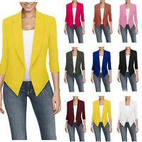 Fashion Ladies Slim Fit Outwear Business Blazer Suit Jacket Tops Outwear Coat