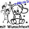 Premium Hoffis BABYAUFKLEBER Autoaufkleber on Board Babyname + Wunschtext 1303