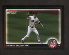 Grady Sizemore--2010 Bowman Chrome Baseball Card--Cleveland Indians