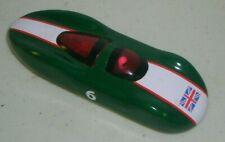 SCHYLLING Abarth RACE CAR # 6 BRITISH FLAG TIN SPARK FRICTION TOY CAR (WORKS)