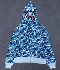 HOT Japan Unisex Hoodie Bape Classic Camo Shark Jaw Head  A Bathing Ape Jacket