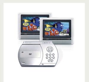 Portable DVD Player Dual Widescreen LCD Displays Venturer PVS1960 W/Travel Case