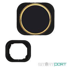 iPHONE 5 5C HOME BUTTON TASTE IN iPHONE 5S OPTIK DESIGN LOOK STYLE SCHWARZ GOLD