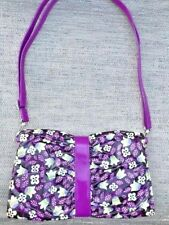 Frill by Vera Bradley Purple Plum Petals Vinyl Purse Handbag floral blue purple
