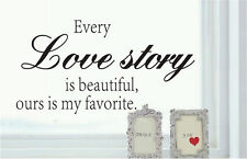Love story English Home Room Decor Removable Wall Stickers Decal Decorations