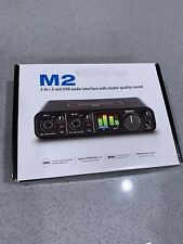 Motu M2 2x2 USB-C Audio Interface With Studio-Quality Sound Open Box