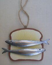 Hanging Sardines On Toast Decoration  Fish Decoration  Sprats Nautical Decor