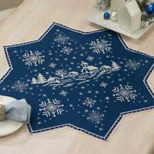 Herrschners® Village in the Snowfall Table Topper Stamped Cross-Stitch Kit