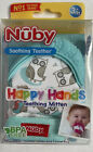 Nuby+Happy+Hands+Teething+Mitten+Soothing+Teether++Owls+w%2FHygienic+Travel+Bag