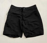Patagonia MEN'S Board Shorts Size 38 Black Fishing Ocean Swimming Drawstring