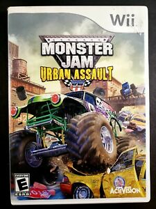 Monster Jam: Urban Assault (Nintendo Wii, 2008) CIB Complete w/ Manual - Tested