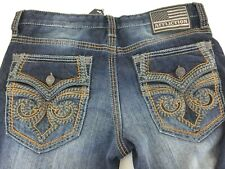 Affliction Blake Fleur Rouge Relaxed Straight Mens Jeans 110RS291 NWTSz 32 x 33