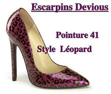 Escarpins Devious - Pointure 41 - Style Léopard - Violet Purple - Talon 11  cm 1629972b255