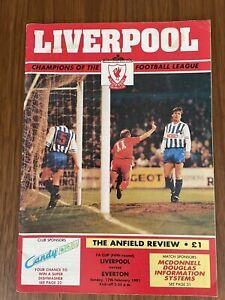 Liverpool V Everton - FA Cup 17/02/1991