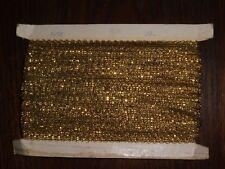 (0,67€/m) alte goldene Borte Metallborte, Höhe ca. 1cm 50m auf einer Pappe GB2