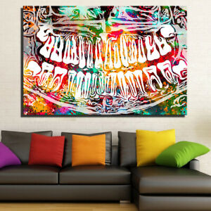 Canvas Art Print Abstract Oil Painting Tooth Laugh Dental Home Wall Decor 20x30
