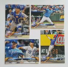 2018 TOPPS UPDATE SERIES KANSAS CITY ROYALS TEAM SET 4 CARDS LOT