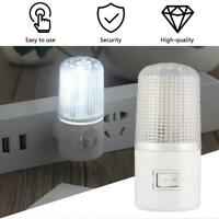 Wall On Off LED Plug In Night Light Dusk To Dawn Energy Saving Safety