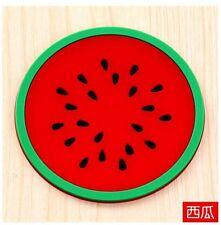 Jelly fruit shape silicone cup pad coaster slip insulation pad creativ0776666666