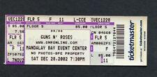 Guns n Roses 2002 Unused Concert Ticket Las Vegas NV