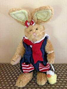 Boyds Emily Babbit  Plush Toy Rabbit With Duckling Dressed In Sailors Outfit