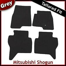 Mitsubishi Shogun SWB Tailored Fitted Carpet Car Mats GREY (2000-2005 2006 2007)