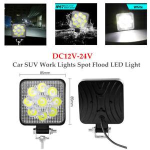 1 Pair 9 LED Auto Car SUV Work Lights Spot Flood LED Light Bar Reverse Durable