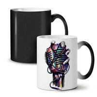 Microphone Sing Art Music NEW Colour Changing Tea Coffee Mug 11 oz | Wellcoda