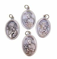 Silver Tone Our Lady of Perpetual Help with Saint Gerard Medal Pendant, Lot of 4