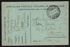 CARTOLINA Militare in franchigia 1916 da PM 8° Divisione a Pistoia (FILs)
