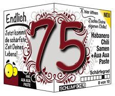 Endlich 75 - Ein witziges Geschenk zum Geburtstag (für Männer oder Frauen)