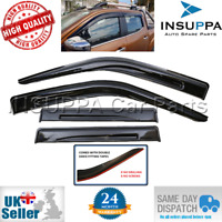 WIND RAIN SUN SMOKE GUARD DEFLECTORS 4pc FOR NISSAN NAVARA D40 4 DOOR 2006-2016