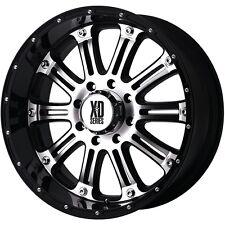 20 Inch Black Silver Rims Wheels Chevy Silverado 1500 Avalanche GMC Sierra 4 XD