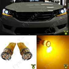 2 Super Bright Yellow LED Lights Headlight Strip Bulbs 2013 - 2015 Accord Q7Y