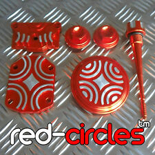 RED PIT DIRT BIKE CNC BILLET DRESS UP THREADED TAPPET COVER 125cc 140cc PITBIKE