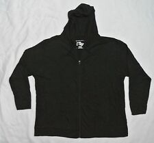 Plus JMS Just My Size 100% Cotton SLUB Hoodie Hooded Zipper Jacket 1X Black NEW