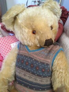Antique  1930's Merrythought Teddy 22 Inches Tall. Great Condition.
