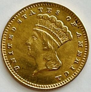 1887 Gold Liberty Head Dollar Type 3 Solid Gem Superb Example Uncertified