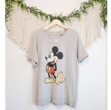 Junk Food Large Mickey Mouse Gray Graphic Short Sleeve Oversized Crew Sweater