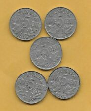 5 - 1922  CANADA KING GEORGE V  FIVE CENTS NICKEL COINS