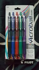 PILOT ACROBALL COLORS 5 PACK OF ASSORTED ADVANCED INK PENS~MED 1.0mm~NEW