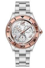 Invicta Women's 30374 Anatomic Quartz 3 Hand Silver, Rose Gold Dial Watch