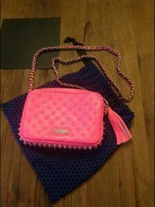 Rebecca Minkoff Tasche  Flirty Quilted Crossbody Neon Pink Handtasche NEU!!!