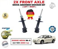 FOR DODGE NEON Mk II 2.0 16V 2000->on 2X FRONT LEFT + RIGHT SHOCK ABSORBERS SET