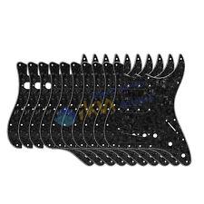 ENSEMBLE 10 pièces Perle Noire 4Ply Guitare Plaque de protection SSS 11Holes