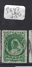 NIGER COAST (PP2210B) QV   2D   SG 47   VFU