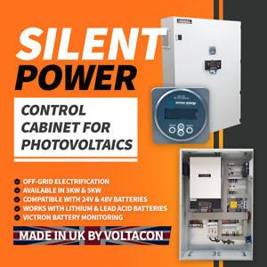 Voltacon Inverter 5kW Charger Off Grid System 48V MPPT. Victron Monitor. 80A