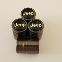 JEEP GUN METAL GREY HUGE Valve Dust caps all Cars NON STICK WRANGLER CHEROKEE
